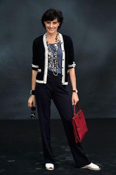 Ines de la Fressange Photo - Chanel - Photocall - PFW F/W 2013 #newyearstylechallenge