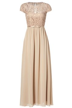 Nude bridesmaid dress from rent the runway