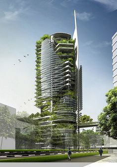 vertical farming - an artist's drawing for a possible vertical farm