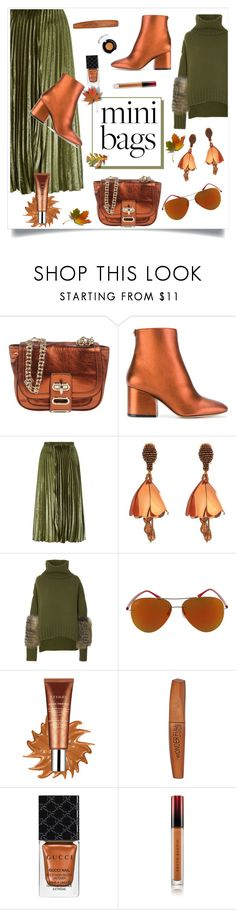 """So Cute: Mini Bags"" by alinepinkskirt ❤ liked on Polyvore featuring Tila March, Salvatore Ferragamo, Whistles, Oscar de la Renta, Sally Lapointe, Ray-Ban, By Terry, Rimmel, Gucci and Kevyn Aucoin"