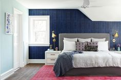 Michelle Gage // Print-Mixed Master Bedroom