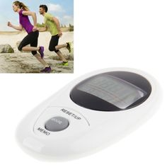 [USD10.75] [EUR9.64] [GBP7.80] 3D All Dimensional Waterproof Multifunction Digital Electronic Pedometer Step Counter(White)