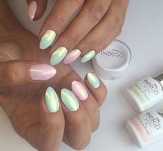 Neon pastel by Natalia Siwiec 2016 + Nevermint Gel Polish + Koko Loko Gel Polish + Mermaid Effect (efekt Syrenki®) by Indigo Educator Daria Korzeniowska #nails #nail #nailsart #indigonails #indigo #hotnails #summernails #springnails #pastelnails #pastel #effectnails #pink #efektysyrenki #mermaid #mint #syrenka
