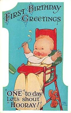 MABEL LUCIE ATTWELL FIRST BIRTHDAY THE NUMBER ONE UNUSUAL in Collectables, Postcards, Topographical: British | eBay
