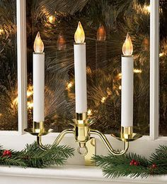 Christmas Window Candles Are A Must