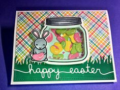 Lawn Fawn How you bean shaker and hoppy Easter card by Apearl B.