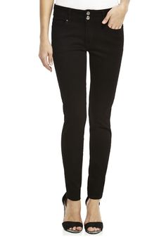 Clothing at Tesco | F&F Black Premium Skinny Jeans > jeans > Jeans > Women