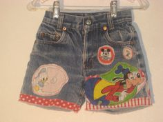Vintage Goofy Disney upcycled Levis Shorts One of a Kind. $15.00, via Etsy.
