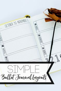 Simple Bullet Journal Ideas