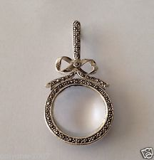 Antique 5 38 sterling silver repouss magnifying glass pendant or antique 5 38 sterling silver repouss magnifying glass pendant or chatelaine vintage chatelaine pinterest magnifying glass sterling silver and eye aloadofball Image collections