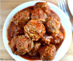 Bobby Flay's Meatball Recipe by The Cozy Cook as part of the Friday Five - Bobby Flay addition - Feed Your Soul Too