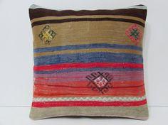 Turkish cushion sofa throw pillow kilim pillow cover decorative pillow case couch outdoor floor bohemian decor boho ethnic rug accent 21841