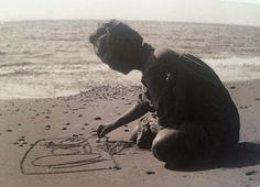 Abstract artist Anna-Eva Bergman in Northern Norway in 1953.