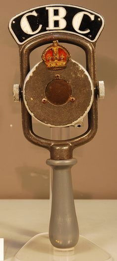 This microphone was used by Canadian Broadcasting Corporation reporters during the 1939 Royal Tour.