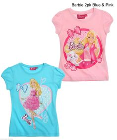 New Girls Character T Shirt 1 2 Pack Kids Cartoon Short Sleeve Top Age 1 16 Yrs | eBay