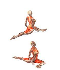 #URDHVA MUKHA KAPOTASANA Pigeon pose on left foot, head up | YOGA.com Sports & Outdoors - Sports & Fitness - Yoga Equipment - Clothing - Women - Pants - yoga fitness - http://amzn.to/2k0et0A