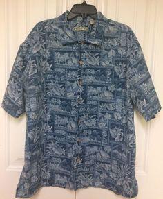 Mens Batck Bay Blue Hawaiian Beach Button Up Shirt Size Xxl #BatckBay #Hawaiian
