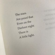 The stars are proof that even on the darkest night there is a little light. David Jones