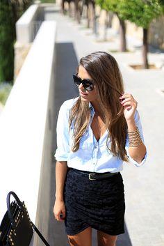 Camisa/Shirt – Mango (old)  Falda/Skirt – Vila via Buylevard  Tacones/Heels – Zara (SS 13)  Bolso/Bag – Michael Kors Selma  Gafas de sol/Sun...