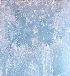 Frost patterns on the window