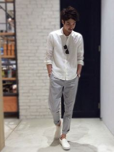 Summer Outfits Men, Cool Outfits, Casual Outfits, Men Casual, Ad Fashion, Mens Fashion, Fashion Outfits, Japanese Men, Men Street