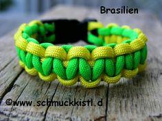 Männer Armband Fußball Brasilien von www.Schmuckkistl.de  auf DaWanda