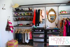 Loved this closet! Elfa shelving from Container Store rocks!