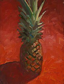 Oil Paintings Still Life: Pineapple