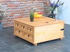 Kiefer Truhentisch New Mexico Wohnzimmer Couchtisch Wohnzimmertisch Tisch Massiv