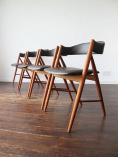 Vintage Leather Dining Chairs set of 4 retro australian teak dining chairsparker vintage