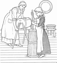 Early American Home Life Coloring Page | Felicity ...