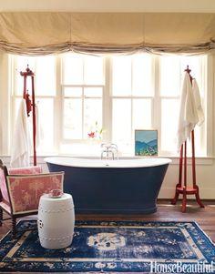 Use a rug instead of a bath mat, cozy!