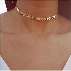 Simple Layered Double Dainty Choker Necklace for Teens in Gold - collar de gargantilla de oro simple Layered Choker Necklace, Layered Chokers, Heart Pendant Necklace, Choker Necklaces, Statement Necklaces, Layer Necklace, Teen Necklaces, Necklace Chain, Choker Necklace Outfit