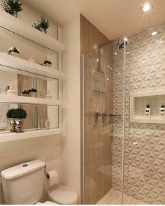 """75 Likes, 4 Comments - Apartamento 304 (@ape.comamor) on Instagram: """"{inspiração} Muito amor por esse banheiro! Cada dia uma dúvida maior de como será o nosso 😁…"""""""