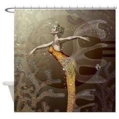 Waterdance Shower Curtain Brn on CafePress.com