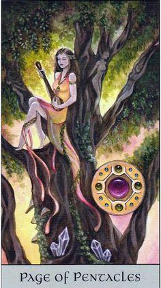 Bài dịch Lá Page of Pentacles - Crystal Visions Tarot bài tarot