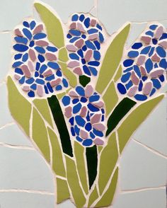 Lovely to see the #hydrangeas coming out #mosaic #mosaics #hydrangeas #spring #nature #thankgoodness
