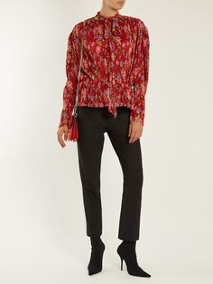 Click here to buy Balenciaga Pleated Lavalliere blouse at MATCHESFASHION.COM
