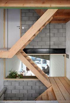 escalier pour aller sur le toit