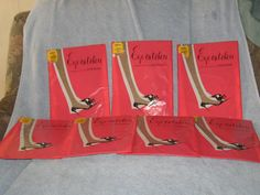 Vintage Berkshire Eye-Catchers Seamless Nylon Garter Stockings sz A     10.00 per pair