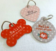 personalised floral rose pet identity tags by tilliemint loves | notonthehighstreet.com