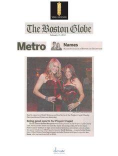 2-13-12 Boston Globe article featuring Heidi Watney and Jen Royle