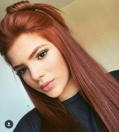 Copper Red Hair Color and Hairstyles Copper Red Hair, Natural Red Hair, Hair Color For Brown Eyes, Hair Color Auburn, Red Hair Color, Color Red, Medium Auburn Hair, Red Orange Hair, Ginger Hair Color