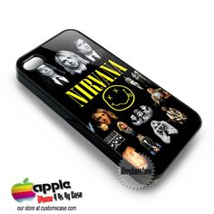 Nirvana Rock Band Legend Custom iPhone 4 4S 4G Case Cover