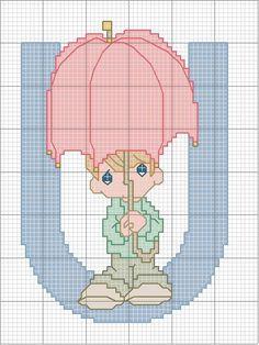 Schema punto croce U-ombrella