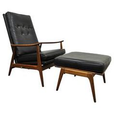 Milo Baughman for James Inc Thayer Coggin Walnut Recliner Lounge Chair &amp…