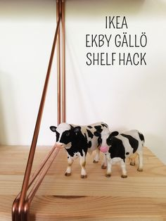 Ikea Hack + Ekby Gällö Shelves