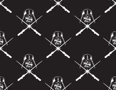 Star Wars Vader Glow In The Dark Cotton Fabric