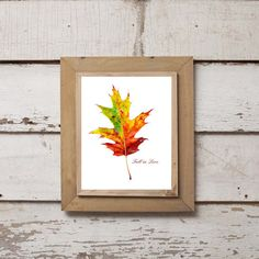 Printable Download Fall in Love Leaf Design 1 by WildBoarDesigns