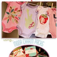 Adorable DIY Onsie Baby Shower! Free templates too.